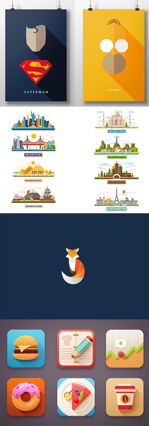 Super Best 25+ Flat design illustration ideas on Pinterest | Flat  JK44