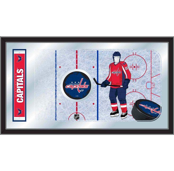 Hockey Rink w/ Winnipeg Jets Player Mirror Wall Art