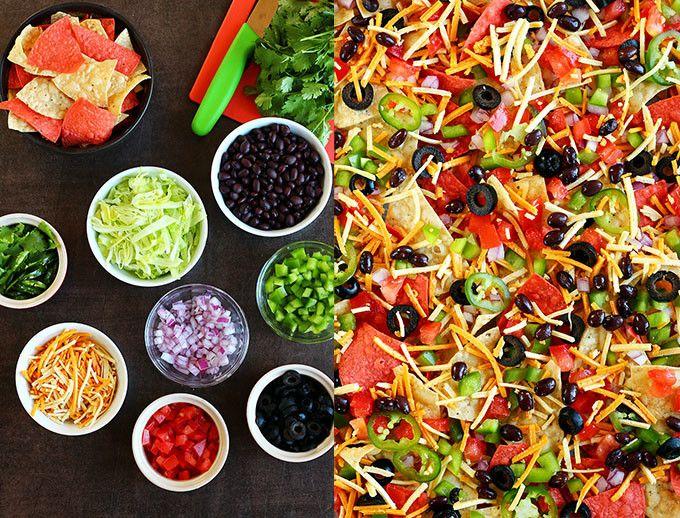 Loaded Vegan Nacho Plate - ilovevegan.com