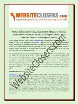 Business Brokers, WebsiteClosers.com, Assist Entrepreneurs with Services to Buy and Sell Ecommerce Businesses