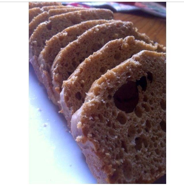 Peanut Butter Protein Bread (egg whites, better than PB, protein powder, baking powder)
