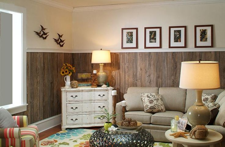 21 best wood panel ideas images on pinterest flooring for Living room paneling designs