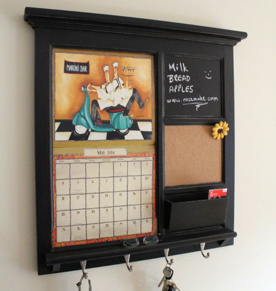 Home Decor Wall Lang Calendar Front Loading Mail Organizer Family