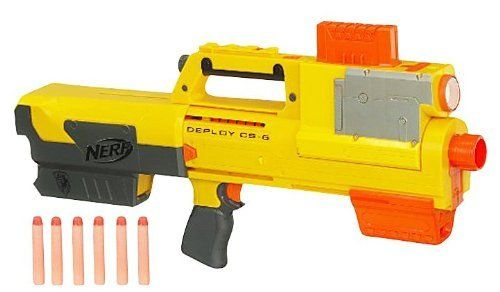 Nerf N-Strike Deploy CS-6 with BONUS Flip Clip Refill by Nerf. $39.99. includes flip clip refill - 2 clips, flip clip connector, 12 clip system darts. When your mission calls for stealth, this Deploy CS-6 blaster is just the right weapon to choose. Convert this pump-handle blaster into a flashlight when you need to track your target through darkened tunnels or in the dead of the night. When you finally find your mark, quickly convert it back to blaster and fire at a...