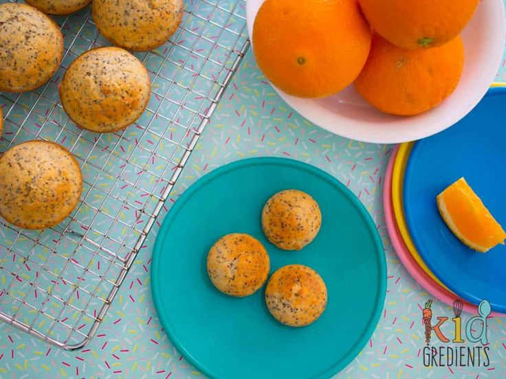 Orange poppyseed mini cakes with hidden chia  low sugar These orange and poppyseed mini cakes with hidden chia are fab in the lunchbox and easy to make. Super kid friendly. Makes 36 small or 12 large 12 mini!