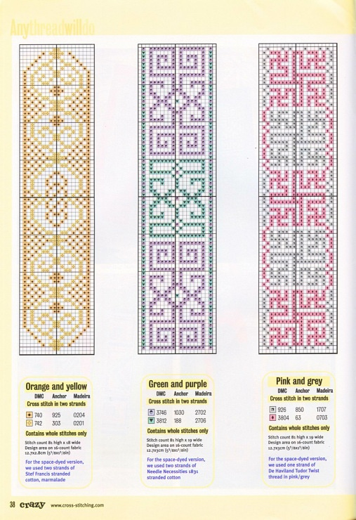 Cross-stitch Bookmarks...     Gallery.ru / Фото #2 - Cross Stitch Crazy 026 ноябрь 2001 - tymannost