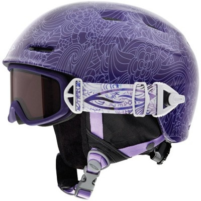 Smith Galaxy Goggle/Cosmos Jr. Helmet Integration Pack - pink flutterby - Snowboard Shop > Protective Snowboard Gear > Snowboard Helmets > Kids Snowboard Helmets