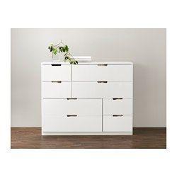 NORDLI Commode 8 tiroirs, blanc - 120x97 cm - IKEA