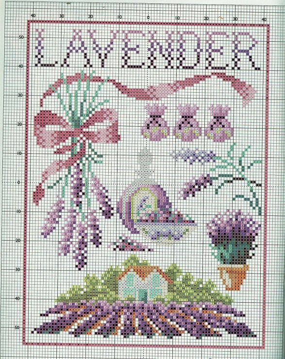 Gallery.ru / Фото #4 - 15 - mikolamazur lavender lavande cross stitch point de croix