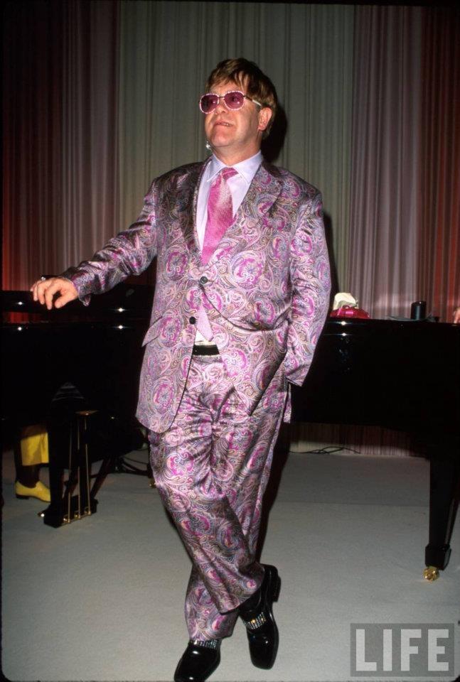 Purple & pink paisley | Elton John | Pinterest | Captain ...