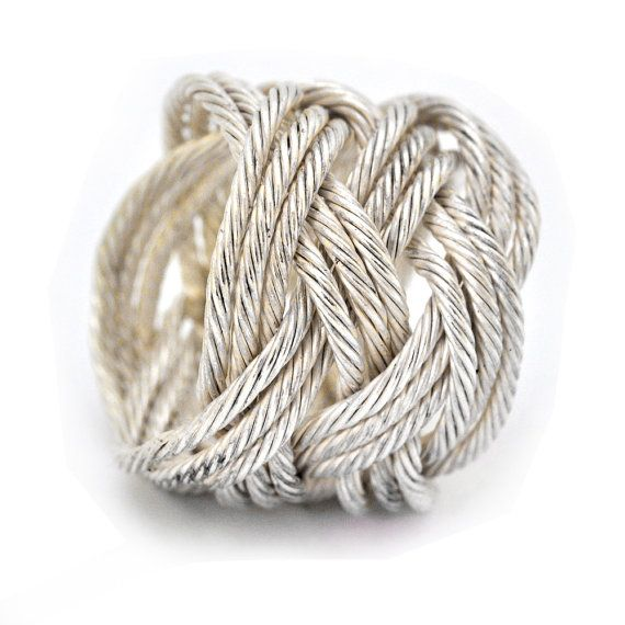 A beautiful knot ring to reflect your #nautical style.