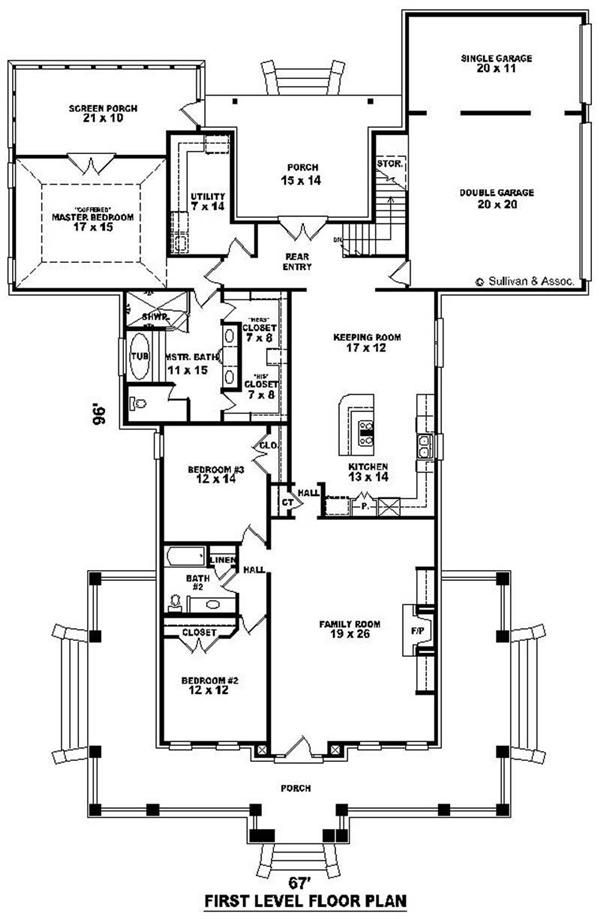 Home floor plan different exteriors and floorplans