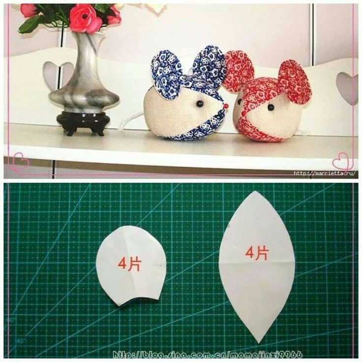 simple mouse soft toy stuffed animal pattern