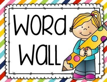 154 best ela elementary resources images on pinterest for Free printable word wall templates