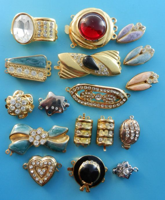 Clasps for jewelry vintage clasps from by RAKcreations on Etsy