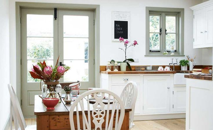 kitchen with french doors - Google Search in 2020   Patio ...