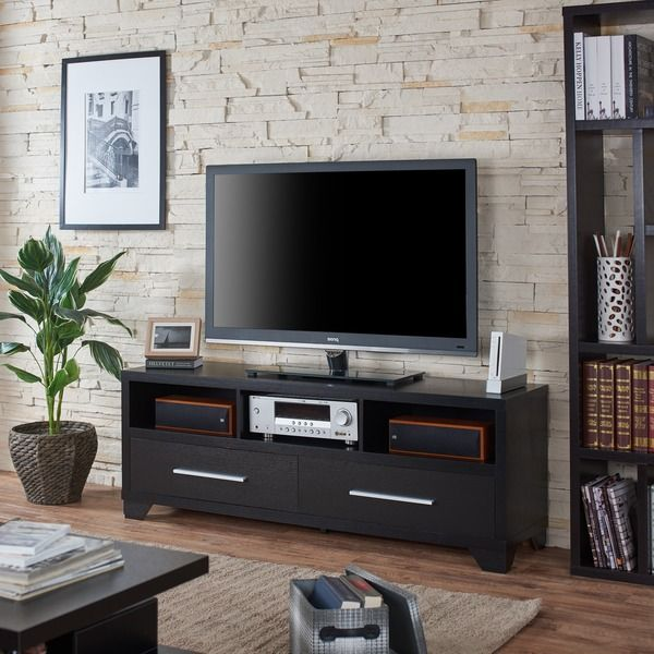 Awesome Furniture of America Drewslee Modern Multi storage Black Media Console For Your House - Inspirational tv stand for bedroom New
