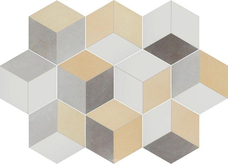 Płytka heksagonalna 3D Toscana Tridi Amarillo Bestile 25,8x29