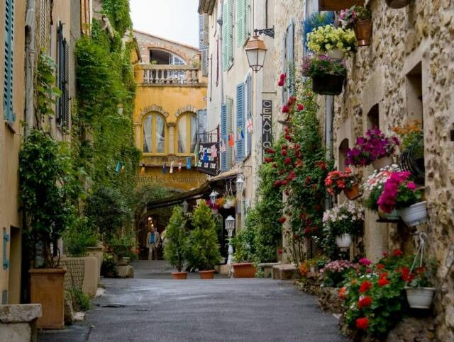 Valbonne France - near Antibes...pleasant and picturesque.  July, 2013