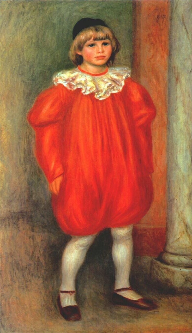The Clown (Claude Ranoir in Clown Costume), 1909, Pierre-Auguste Renoir  Size: 77x120 cm Medium: oil on canvas