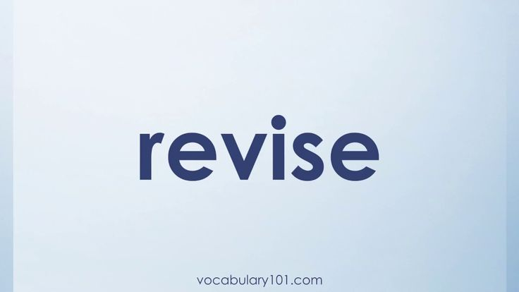 revise Meaning and Example Sentence | Learn English Vocabulary Word with Definition