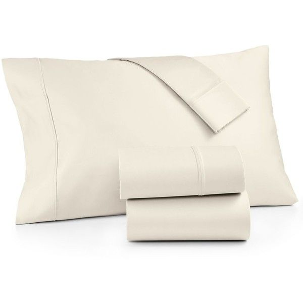 Aq Textiles Bergen Certified Egyptian Cotton 1000-Thread Count 4-Pc. ($360) ❤ liked on Polyvore featuring home, bed & bath, bedding, bed sheets, ivory, ivory bedding, egyptian cotton queen sheet set, 4 piece sheet set, cream bedding and 1000 thread count egyptian cotton sheet set