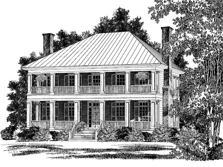 Plantation House Plan with 2602 Square Feet and 3 Bedrooms