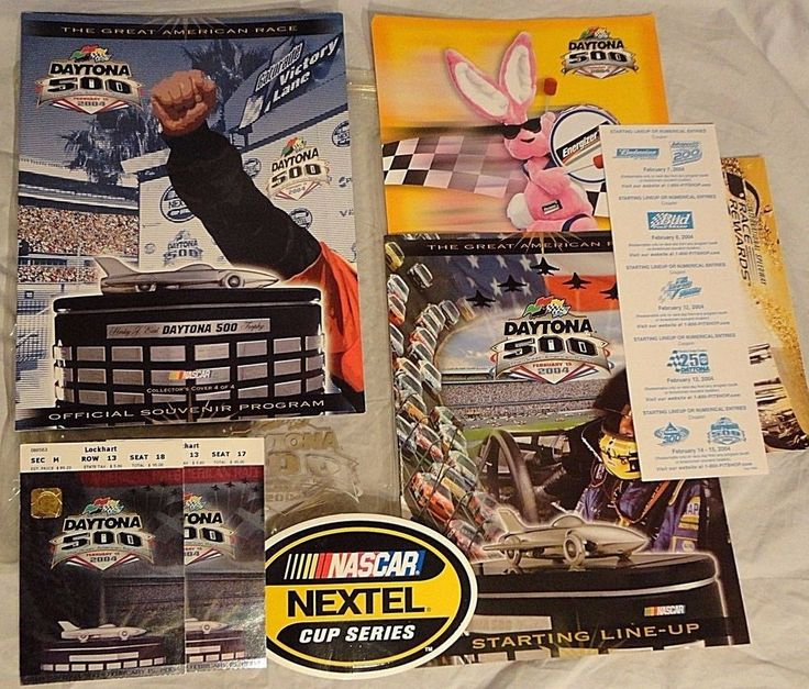 Dale Earnhardt Jr. Daytona 500 NASCAR Car Racing Program Feb 15 2004 Tickets LOT