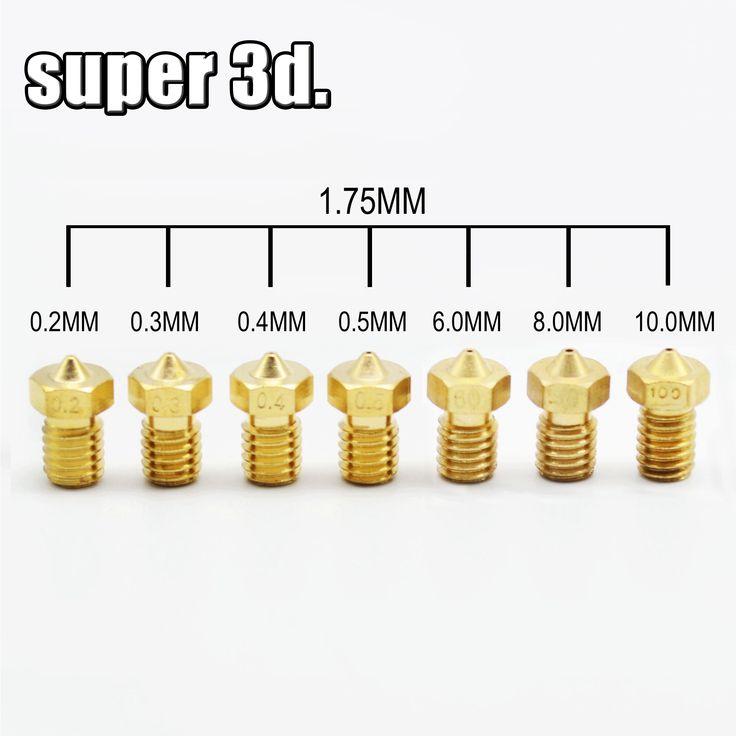 5 stks 3d-printer V5 V6 nozzle voor 1.75mm filament