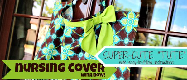 Milking It : Bow Nursing Cover Pattern and Tutorial