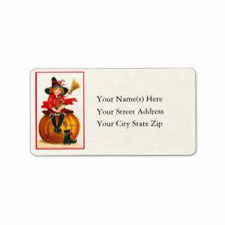 Witch address label