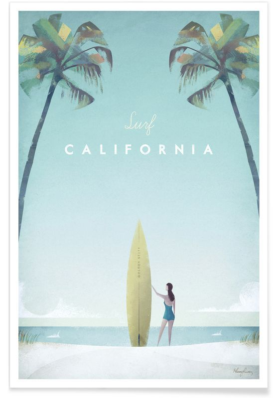 California als Premium Poster von Henry Rivers | J…