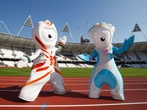 mascots Wenlock and Mandeville