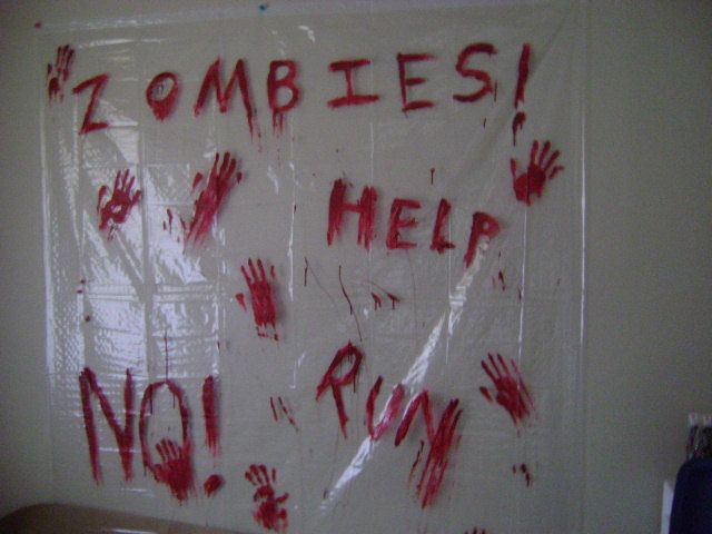 Zombie Apocalypse Shower Curtain by beafraid on Etsy