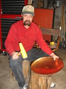 Forming copper bowls from sheet metal by hand                                                                                                                                                                                 More
