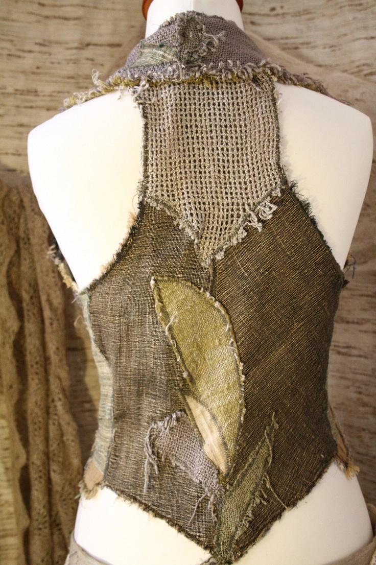 Lichen Moss Patchwork Waistcoat/Vest