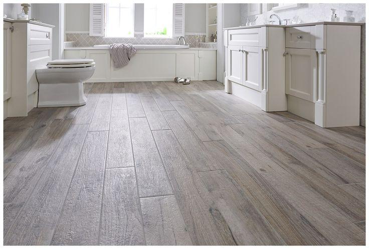 Natural wood effect porcelain floor tiles in birch#Roseberry #paintedtimber #bathroomfurniture #tiles #myutopia