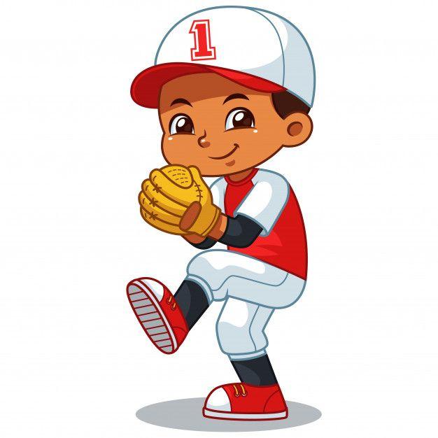 Baseball Pitcher Boy Listo Para Lanzar Premium Vector Freepik Vector Ninos Educacion Caracter Dibujos Dibujos Beisbol Beisbol Jugadores De Beisbol