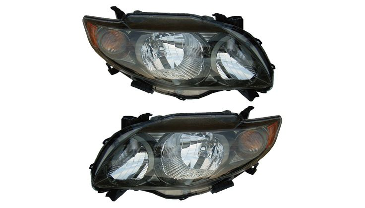 2009-2010 Toyota Corolla Halogen Headlights Set: 2009-2010 Toyota Corolla Halogen Headlights Set #CarHeadlights #AutoHeadlights