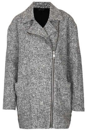 Grey Textured Ovoid Coat