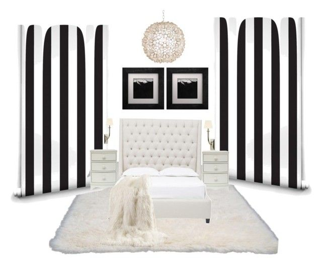 """Black and white bedroom ideas"" by taniamin on Polyvore featuring interior, interiors, interior design, home, home decor, interior decorating, nuLOOM, Milton & King, Worlds Away and Best Home Fashion"