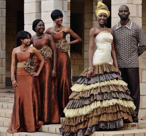 Superbes tenues de mariée en pagne | blackNwed