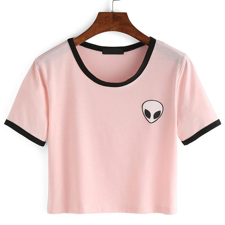 14 Style 2016 Fashion Summer kawaii Design Print Aliens T Shirts Women Short…
