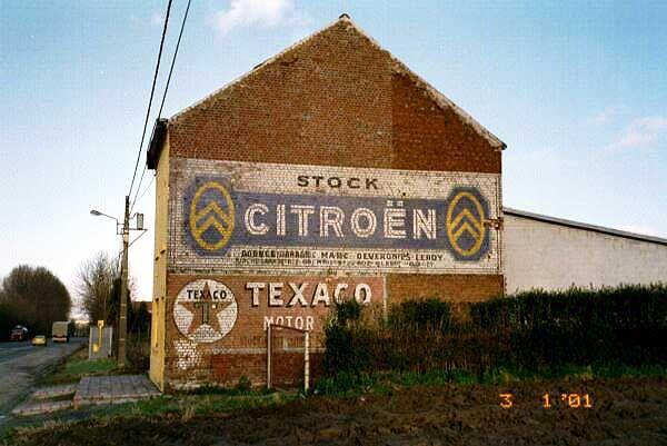 stock CITROËN & TEXACO motor oil (Quevy -Belgique)