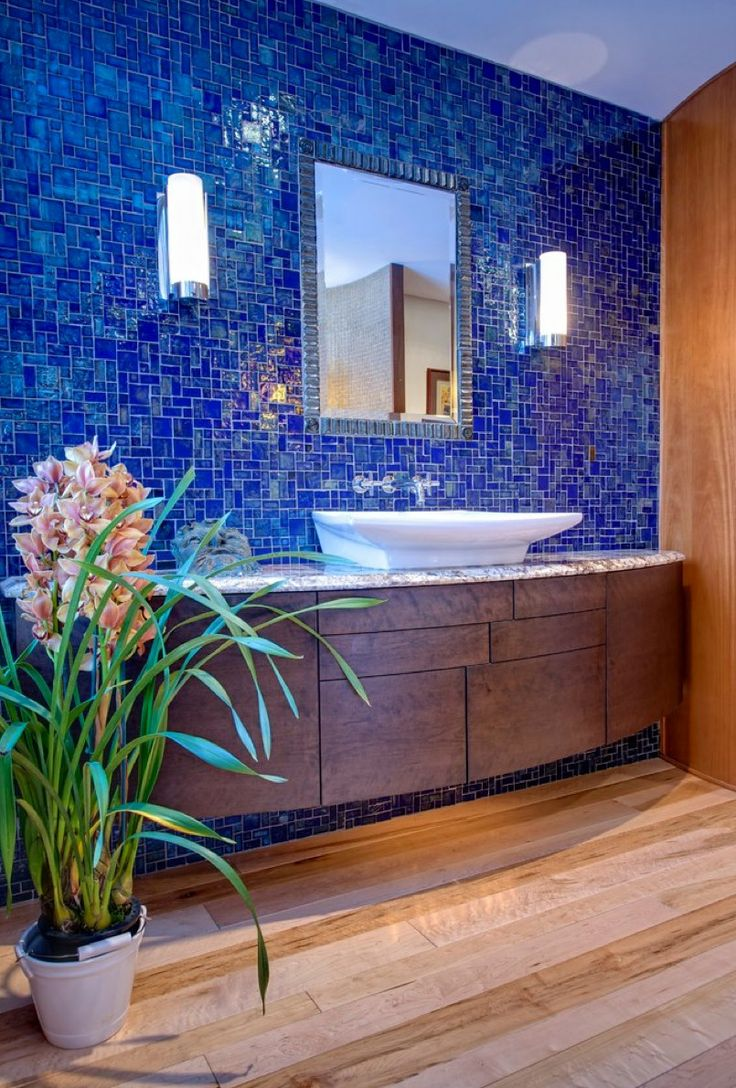 40 best images about bathrooms mirror feature wall on for Bathroom feature tile designs