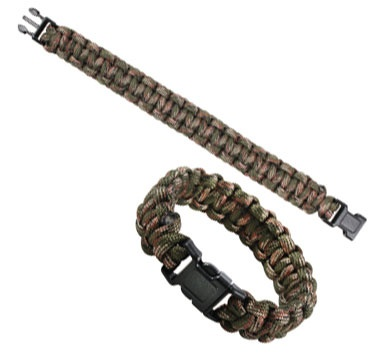 Camouflage Paracord Bracelet Green Camo Military Jewelry $3.71
