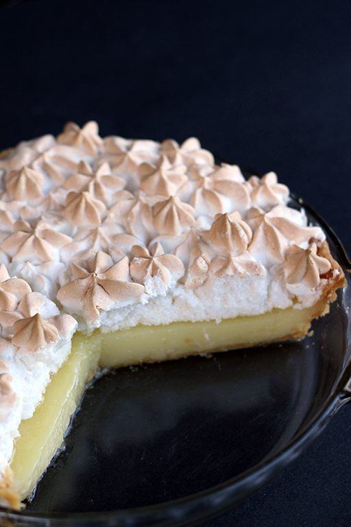 Lemon meringue pie recipe using real lemon, lots of butter & egg yolks to achieve a rich, very lemony pie!