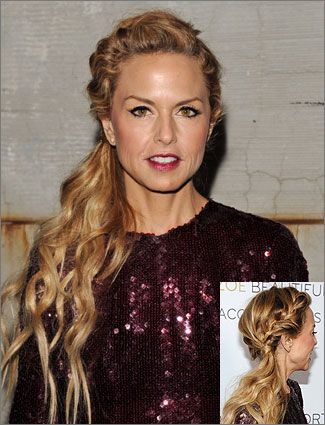 Get Rachel Zoe's Braided Ponytail: Hairstyles, Rachel Zoe, Zoe S Braided, Hair Styles, Rachelzoe, Braids, Side Ponytail, Braided Ponytail