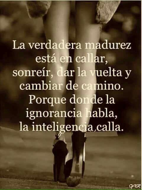 Madurez ignorancia inteligencia