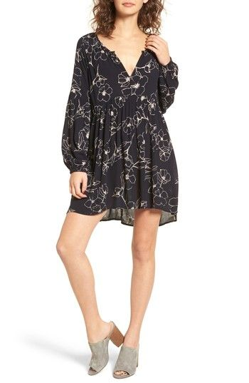 Free shipping and returns on Billabong Until Tomorrow Print Babydoll Dress at Nordstrom.com. Shirred just the below the bust to create a swingy skirt, this breezy babydoll dress is perfect for donning on days when you want to look cute without sacrificing one bit of comfort.